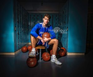 High School Senior portrait Basketball